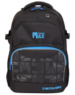Ранец Discovery Backpack Solid Black для учеников старшей школы, объем 23 л - ves TMDC18-A02
