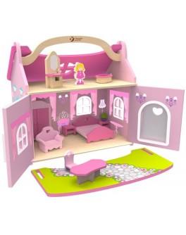 Дерев'яна іграшка Classic World Будиночок-чемодан маленької принцеси - CW 4156