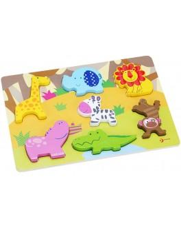 Дерев'яна іграшка Classic World 3Д Вкладиш Тварини - CW 3551