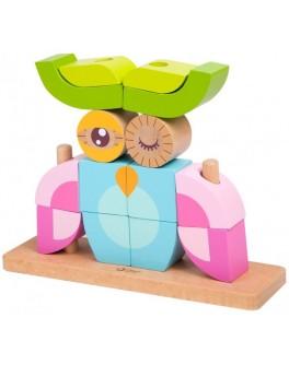 Дерев'яна іграшка Classic World Вертикальний пазл Совенок - CW 3708