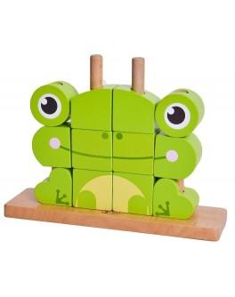 Дерев'яна іграшка Classic World Вертикальний пазл Жабеня - CW 5107
