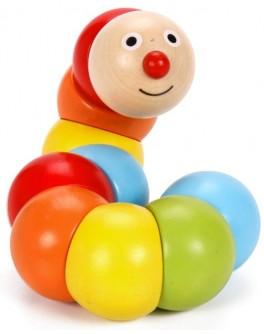 Дерев'яна іграшка Classic World Весела Гусениця - CW 3505
