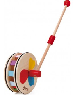 Дерев'яна іграшка Classic World Каталка-Колесо Веселка - CW 2216