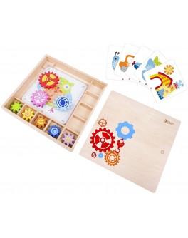 Дерев'яна іграшка Classic World Веселі шестерінки в дерев'яній коробці - CW 8009