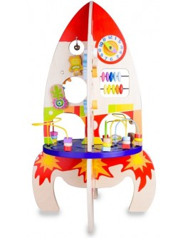 Дерев'яна іграшка Classic World Розвиваючий центр Ракета - CW 4121