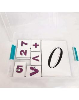Дидактичній набір демонстраційного матеріалу з вивчення цифр і знаків (на магнітах) - нуш 5555-02