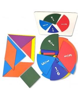 Дидактической набор Дроби. Танграм (на магнитах) - нуш 5555-03
