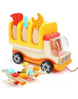 Дерев'яна машинка-конструктор Top Bright Вантажівка з інструментами - top b 120312
