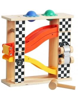 Дерев'яна іграшка Top Bright Гоночна траса і падаючі м'ячики 2 в 1 - top b 150168