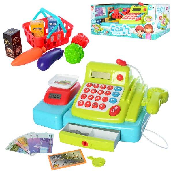 Кассовый аппарат со сканером и продуктами