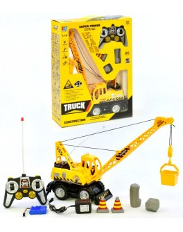 Іграшка Кран на колесах на радіокеруванні (світло, звук) - igs 689-19