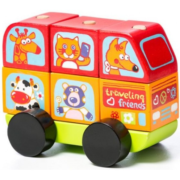 Автобус Весёлые зверята Cubika LM-10