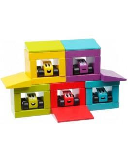 Деревянный конструктор-трек Cubika Цветные гонки (14859) - cub 14859