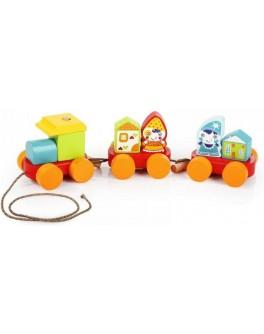 Деревянная игрушка Cubika Сказочный поезд (14002) - cub 14002