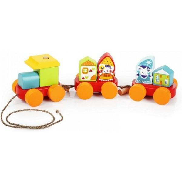Дерев'яна іграшка Cubika Казковий потяг (14002) - cub 14002