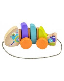 Дерев'яна іграшка Cubika Каталка Рибка (13630) - cub 13630