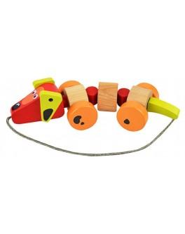 Деревянная игрушка Cubika Каталка Такса (13623) - cub 13623