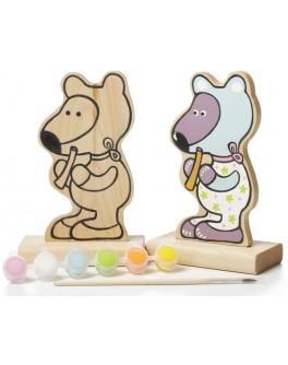 Деревянная игра-раскраска Cubika Мишка (13852) - cub 13852