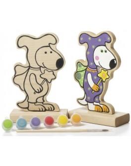 Деревянная игра-раскраска Cubika Собачка Волшебник (13838) - cub 13838