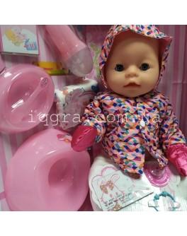 Пупс функциональный Baby Born BL 023 S в белых колготках и куртке с ярким принтом - igs BL 023 S