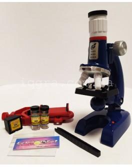Детский микроскоп для школьников 1200х с образцами и насадкой для фото  - mpl C2135-2136