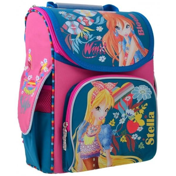 Рюкзак шкільний каркасний 1 Вересня H-11 Winx mint, 33.5х26х13.5