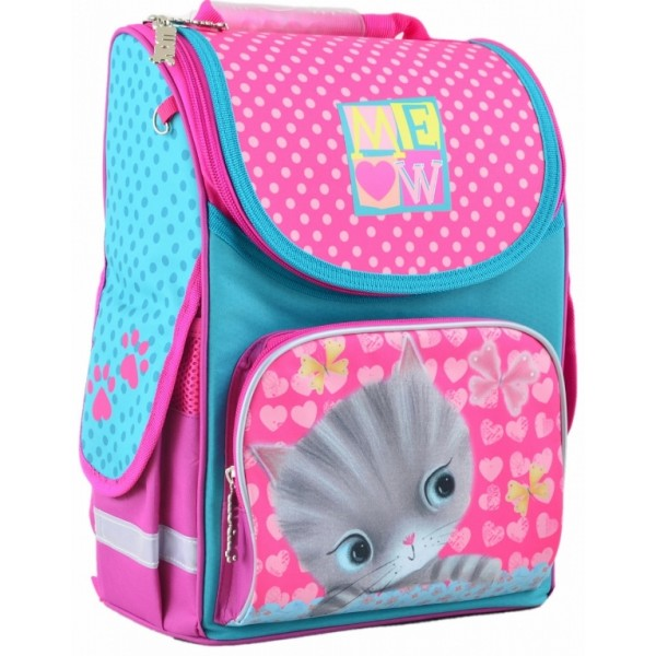 Рюкзак шкільний каркасний 1 Вересня H-11 Cat, 33.5х26х13.5