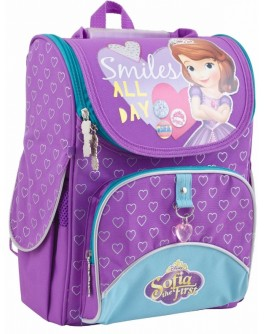 Рюкзак школьный каркасный 1 Вересня H-11 Sofia purple, 34х26х14 - poz 553269