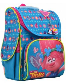 Рюкзак шкільний каркасний 1 Вересня H-11 Trolls turquoise, 33.5х26х13.5 - poz 555162