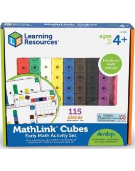 Набір Математичні кубики з картками, 115 шт. Mathlink® Learning Resources LER4286-UK - LER 4286-UK