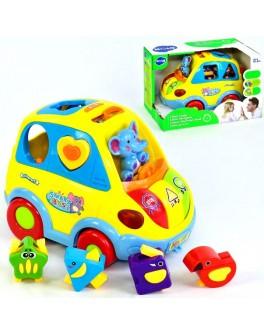 Музыкальная машинка-сортер Hola toys 896 (озвучена на англ. языке)