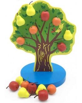 Дерев'яна гра на магніті Дерево з фруктами С 39408 - mlt C39408