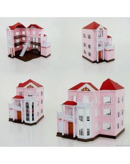 Домик-конструктор трехэтажный Счастливая семья - igs 1513