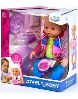 Пупс функциональный Warm baby 8040-487 (кушает, пьет, ходит на горшок, плачет) - igs 8040-487