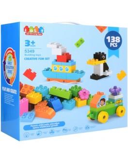 Конструктор JDLT Транспорт і тварини 138 деталей (аналог Lego Duplo) - mpl 5349
