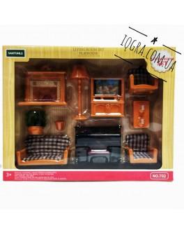 Набір меблів Щаслива сім'я Вітальня для ляльок лол - igs Т 02