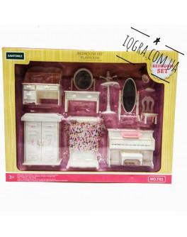 Набір меблів Щаслива сім'я Спальня для ляльок лол - igs Т 01