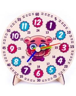 Модель демонстраційна годинник Ведмедик 40 см Розумний Лис - roz 90128