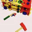Машинка дерев'яна стукалка з молоточком - mpl MD 0727