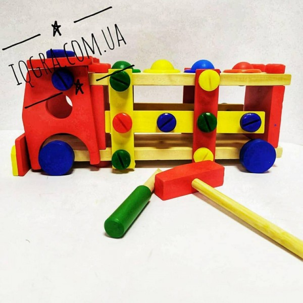 Машинка конструктор з інструментами