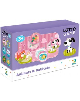 Настільна гра DoDo Лото Тварини і середовище проживання (300196) - dodo 300196