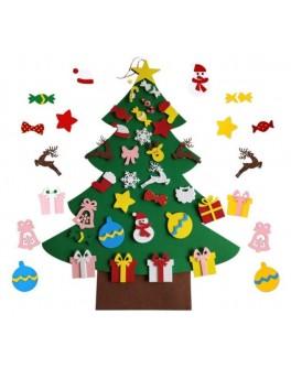 Коврограф Новогодний Ёлка с игрушками на липучках 30 шт - елка diy