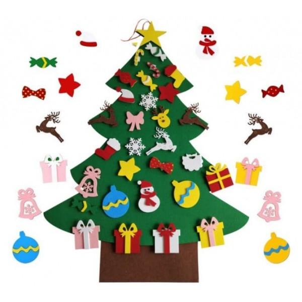Коврограф Новорічний Ялинка з іграшками на липучках 30 шт. - елка diy