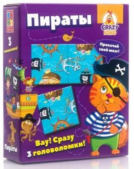 Гра настільна Vladi Toys Головоломки. Пірати Crazy Koko (VT8055-11) - VT8055-01 / VT8055-11