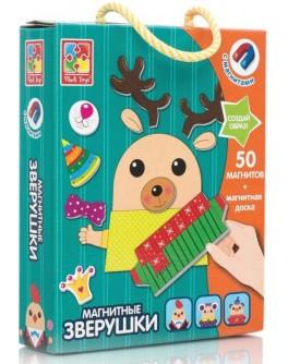 Магнитная игра Vladi Toys Зверушки (VT3702-10)  - VT3702-10