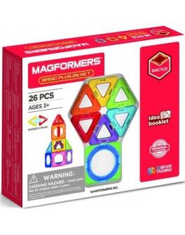 Магнітний конструктор Magformers Базовий плюс, 26 елементів - ITT 715014