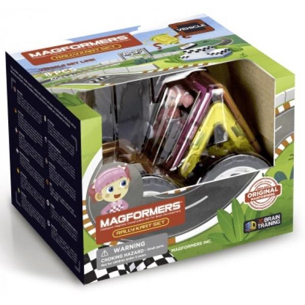Магнітний конструктор Magformers Раллі для дівчат, 8 елементів - ITT 707017