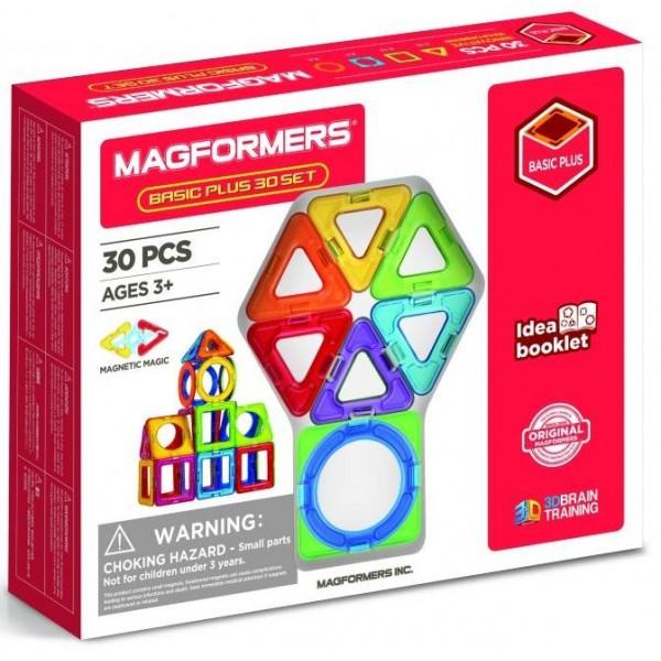 Магнітний конструктор Magformers Базовий плюс, 30 елементів - ITT 715015
