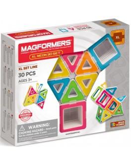 Магнітний конструктор Magformers XL Неон, 30 елементів - ITT 706006