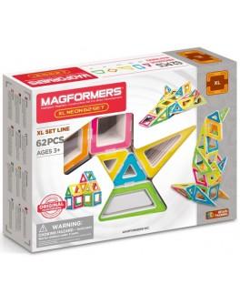 Магнітний конструктор Magformers XL Неон, 62 елемента - ITT 706007